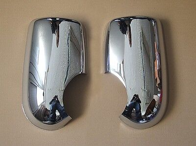 CHROME MIRROR COVERS SET FOR FORD TRANSIT 2000  MK6 MK7