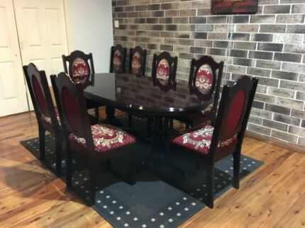 Antique 9 Pieces Dining Room Suite Can Deliver