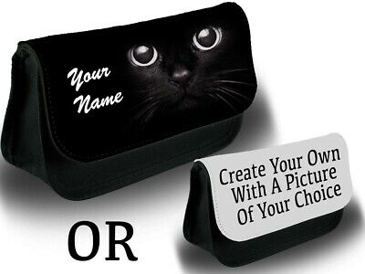 Halloween Black Cat Eye Makeup (Black Cat Eyes Make Up Bag Makeup Case Cats Halloween Funny Whiskers Eye)