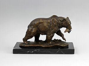 Escultura-de-bronce-Escultura-sign-Milo-Oso-con-Pescado-sobre-base-9937645-ds