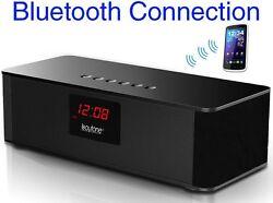 Boytone BT-87CR Portable FM Radio Alarm Clock Radio Speaker SD /BLUETOOTH/AUX/US
