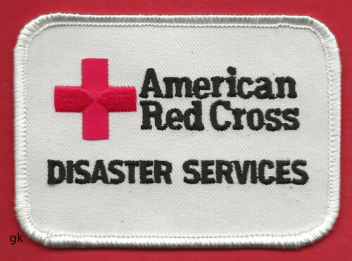 AMERICAN RED CROSS   DISASTER SERVICES   SHOULDER PATCH