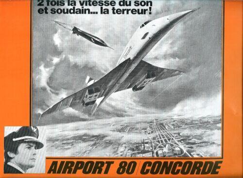 ALAIN DELON -Sylvia KRISTEL  Robert WAGNER French Pressbook AIRPORT 80 CONCORDE