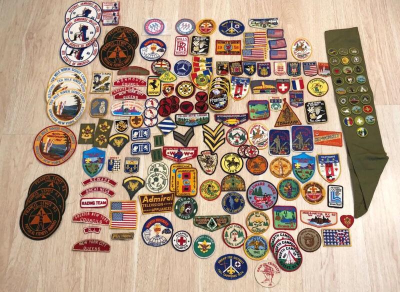 Vintage Lot of 157 Patches Badges Boy Scouts Car Manufacturer Mixed Lot VTG