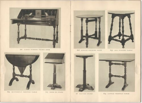 Wallace Nutting Period Furniture -the 1920s Trade Catalog & 1926 Price List