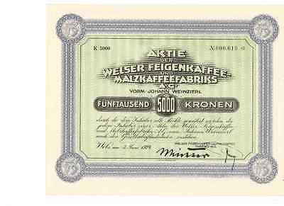 Welser Feigenkaffee - Malzkaffeefabrik 1924