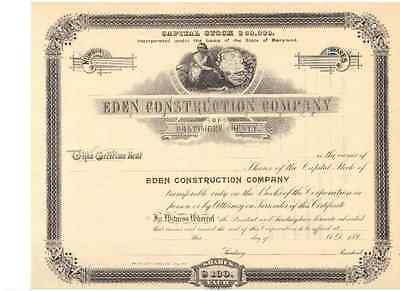 Eden Construction Company  Baltimore