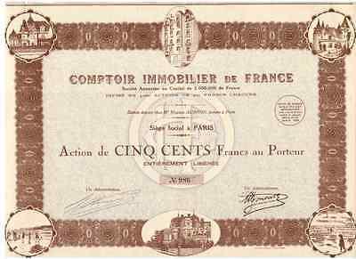 Comptoir Immobilier de France  1930  DEKO