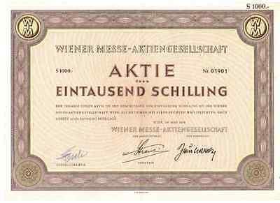 Wiener Messe AG   1958 Wien    1000 Schilling