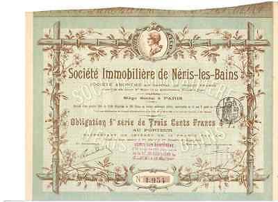 Societe Immobiliere de Neris-les-Bains Paris 1896