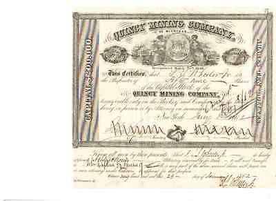 Quincy Mining Company  of Michigan  1862