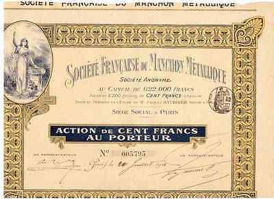 Societe Francaise du Manchon Metallique 1911