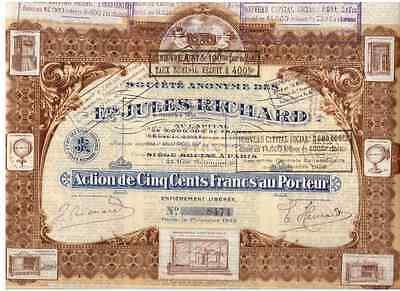 S.A des E.ts Jules Richard  Paris 1922   HOCHDEKO
