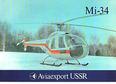 MI-34 HELICOPTER MANUFACTURERS SALES LEAFLET RUSSIA AEROFLOT
