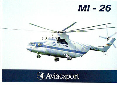 MI-26 HELICOPTER MANUFACTURERS SALES LEAFLET RUSSIA AEROFLOT