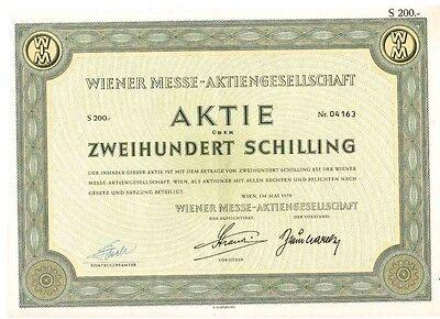 Wiener Messe AG   1958 Wien    200 Schilling