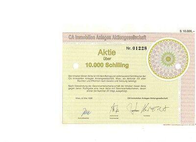 CA Immobilien Anlagen AG Wien 1988   10000 Schilling