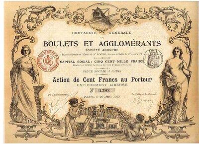 Boulets et Agglomerants  1912 Paris   HOCHDEKO