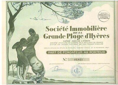Immobiliere Grande Plage d'Hyeres 1927   HOCHDEKO
