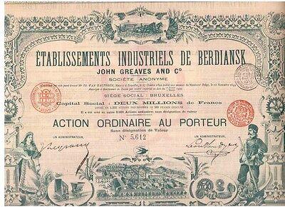 Russland Etablissements Industriels de Berdiansk  1900