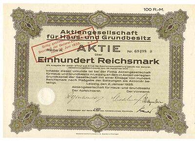 AG für Haus und Grundbesitz 1925 Leipzig