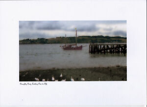 BROUGHTY FERRY LOOKING OVER TO FIFE SIGNED by SELF REP' ARTIST FREE P&P