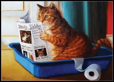 Kitty Reading - Chart Counted Cross Stitch Patterns Needlework DIY DMC (Dmc Cross Stitch Patterns)