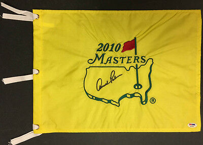 Arnold Palmer SIGNED 2010 Masters Golf Pin Flag PSA/DNA AUTOGRAPHED RARE