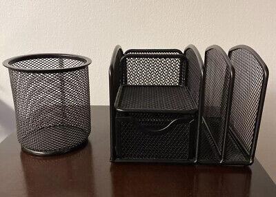 Computer Desk Organizer Set Mesh Office Supplies Accessoriespen Holder