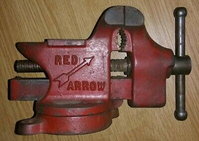 Vintage Cast Iron Columbian Red Arrow No.63-3 Usa With Anvil