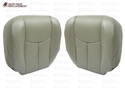 2003 To 2006 Chevy Tahoe Suburban Driver& Passenger Bottom Seat Cover Gray Vinyl