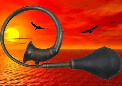 Taxi Horn Brass Black Oxide Finish Instrument Soccer Vintage