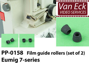 Eumig-7-series-Film-guide-rollers-set-of-2-PP-0158-new