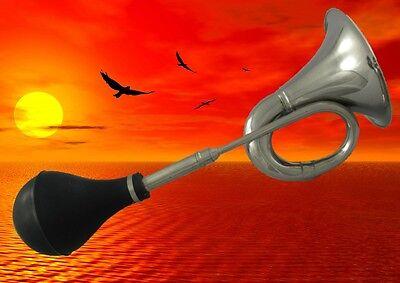 Hupe Autohorn Instrument Fussball Tröte Vintage Geschenk Blechblasinstrumente