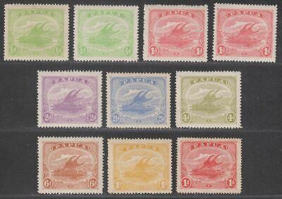 Papua 1911-15 KGV Lakatoi Canoe Mono Set to 1sh Mint SG84-90
