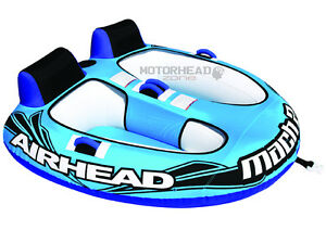 Sportsstuff Airhead AHM2-2 Mach 2 Tube Cockpit 2 Person Towable Inflatable Boat
