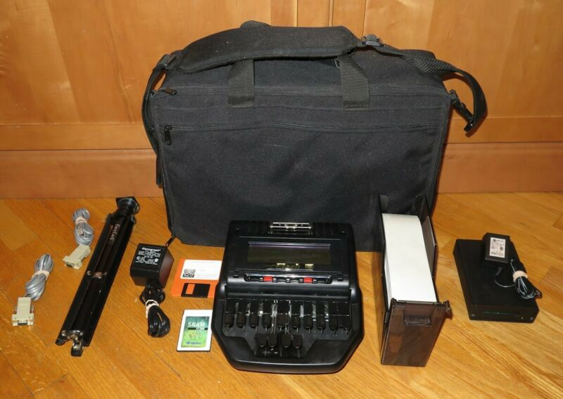 ProCAT Flash Steno Machine w/Memory Card, Reader, Tripod & Case