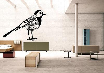 Wall Room Decor Art Vinyl Sticker Mural Decal Zentangle Bird Relaxation FI1062