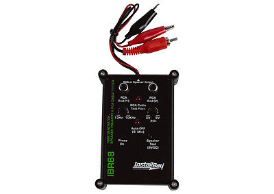 NEW INSTALL BAY IBR68 9-VOLT ALL IN ONE RCA CABLE WIRE SPEAKER TESTER CABLE -