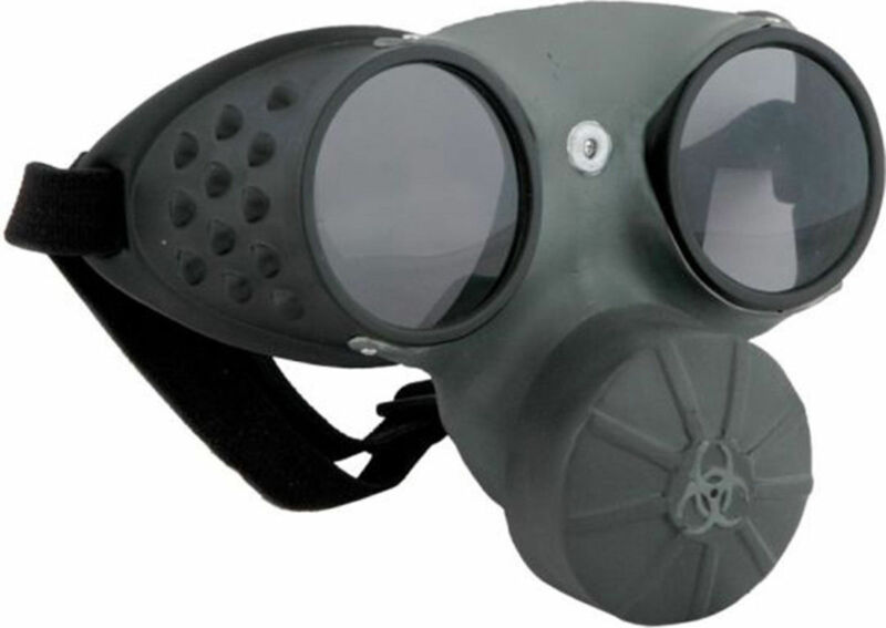 Morris Costumes Plastic Hinges Steam Punk Enthusiasts Glasses Gas Mask. ELS42710