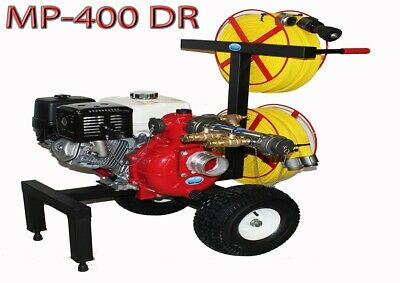 Code3 Water Mp-400dr Dual Reel Fire Home Wildfire Protection Water Pump System