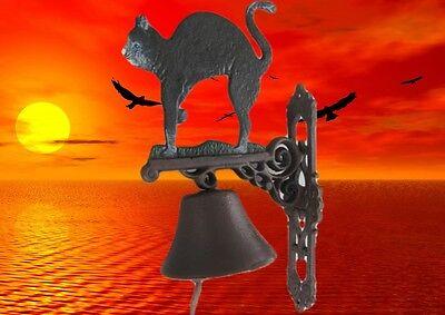 Wandglocke Gußeisen Katze Tür Klingel Gescher klingt gut Vintage Dekogeschenk