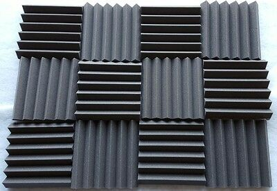 18 pack Acoustic Foam Tiles   2 x 12 x 12 (charcoal) *FREE SHIPPING
