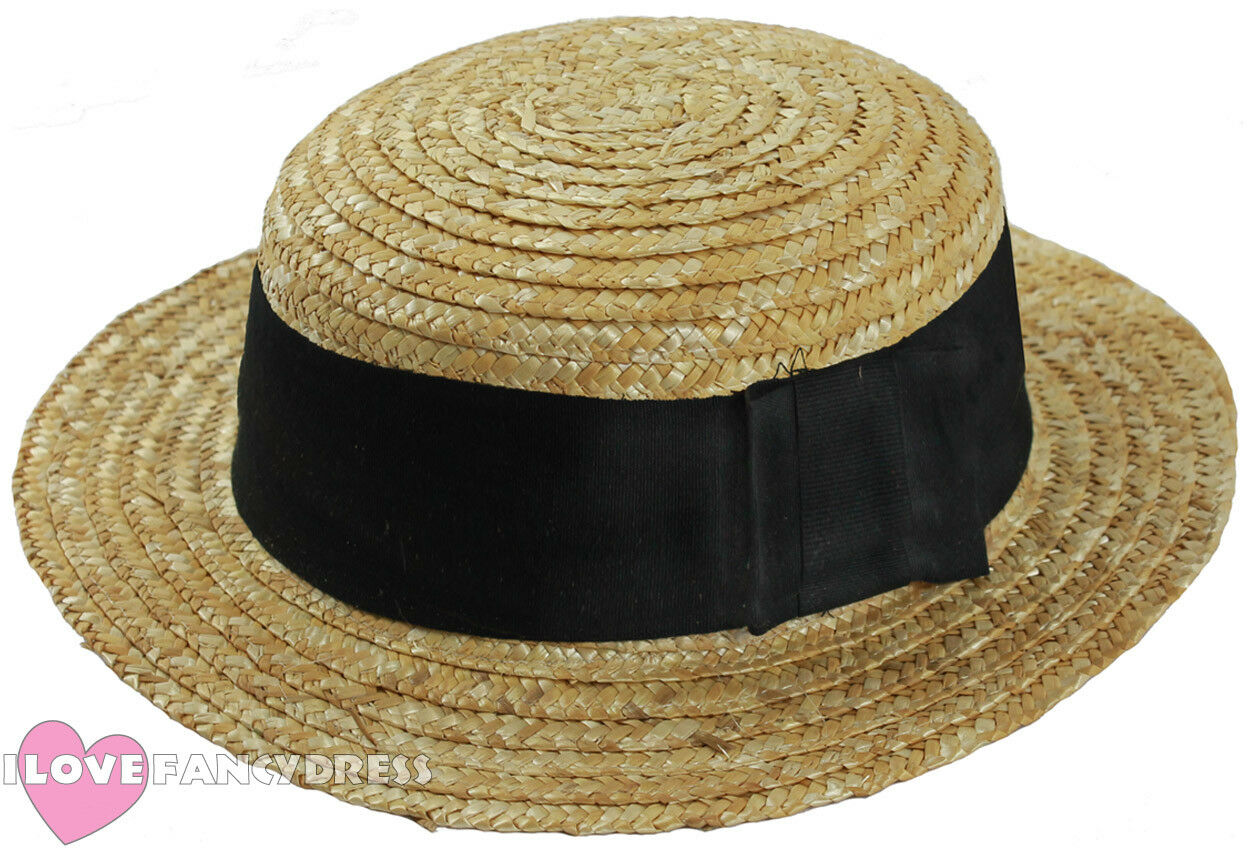 Summer Straw Boaters Hat
