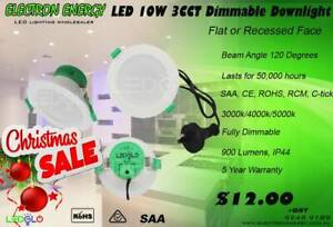 XMAS SALE! 3 Colour - Flat Dimmable LED Downlights – From $6.50   GST