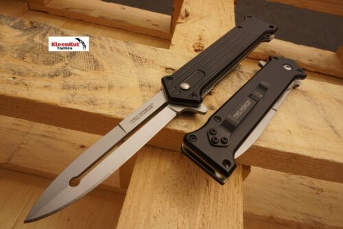 "7.5"" Joker Spring Assisted Tactical Open Stiletto Pocket Knife Folding Steel NEW"