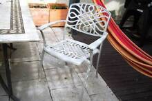 Set of 4 Cast Aluminium Off White Outdoor DIning Chairs Coogee Eastern Suburbs Preview