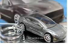 Custom Key Chain Tesla Model 3 dark silver metallic   eBay