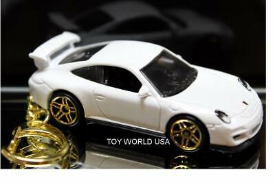 Custom Key chain Porsche 911 GT3 RS white