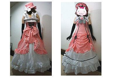 Brand new Kuroshitsuji Black Butler Ciel Phantomhive Cosplay Costume Set Pink  - Make Costumes